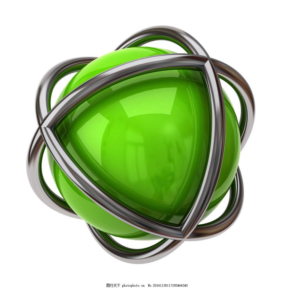 3d圆球图片 透视 立体 绿色 球体 其他类别 图片素材