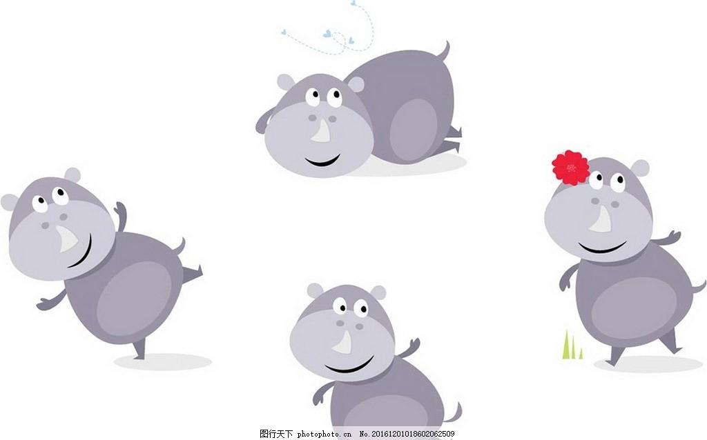 卡通可爱动物 卡通背景 梦幻背景 矢量文件 儿童卡通 背景底纹
