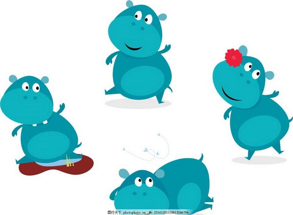 卡通可爱动物素材 卡通背景 梦幻背景 矢量文件 儿童卡通 背景底纹