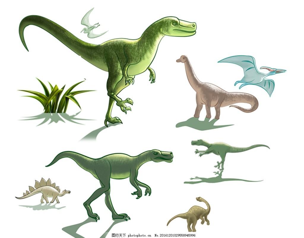 恐龙 卡通 动画 侏罗纪 远古图片