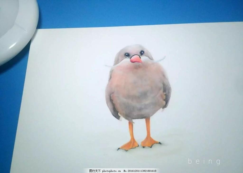 马克笔鸟 绘画 鸟 手绘 马克笔画 创意色彩 设计 文化艺术 绘画书法 7