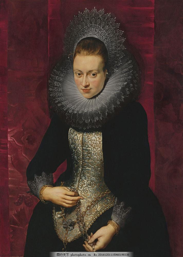 女性人物肖像画图片