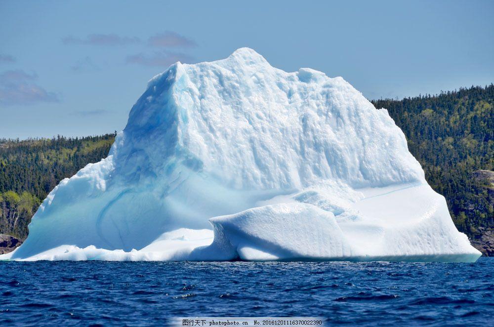 一座冰山图片素材 浮冰 冰山 冰山风景 冰川 北极冰川 南极冰川 冰川