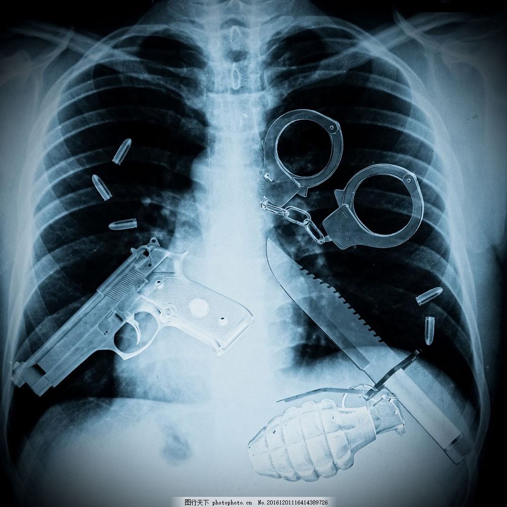 人体结构与危险品摄影 人体结构与危险品摄影图片素材 刀 手枪 手铐
