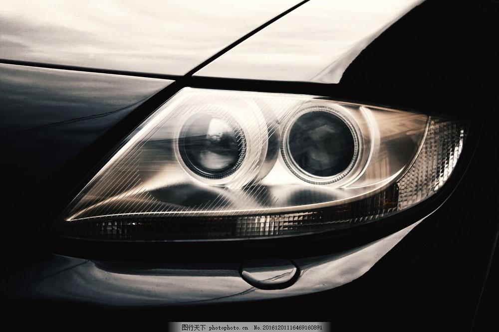车灯摄影图片素材 车灯特写 酷炫车灯 轿车 汽车 小车 车辆 汽车图片