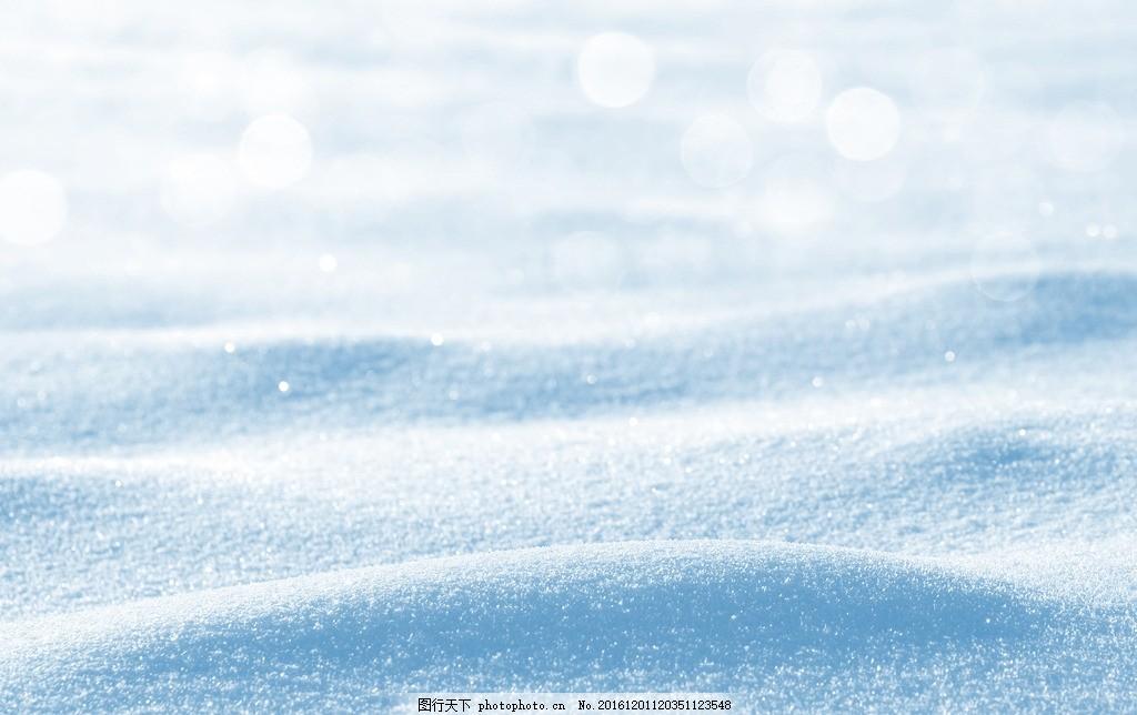 唯美雪景 雪花 冰花 雪地 设计素材 海报背景 浪漫唯美 卡通背景图片