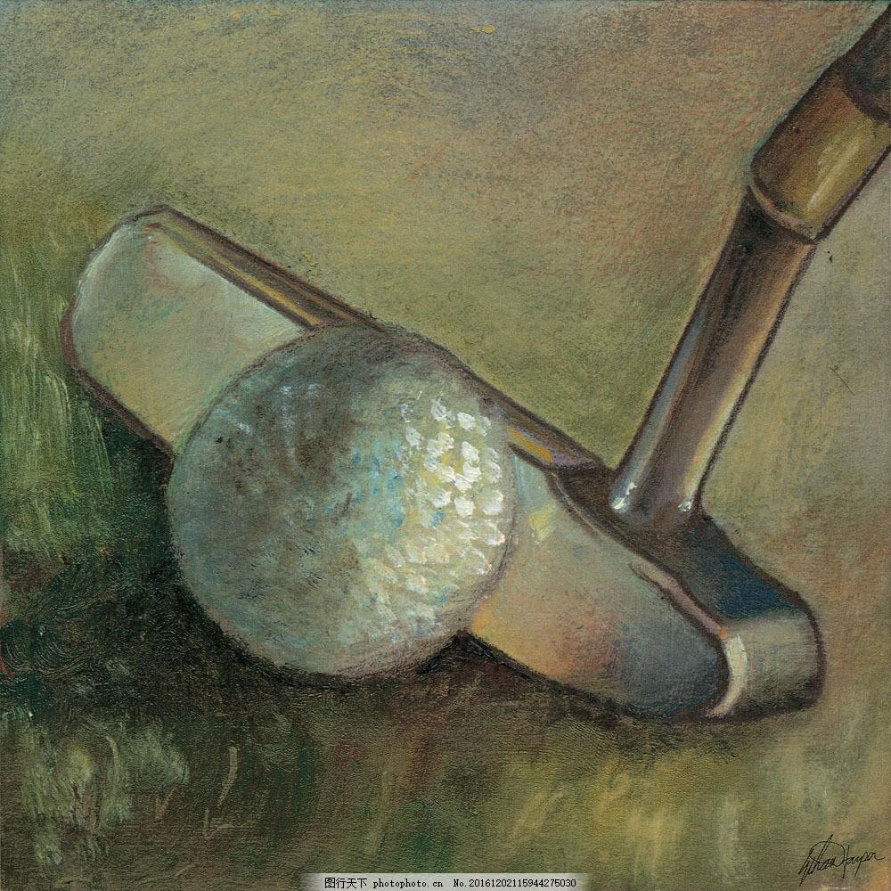 高尔夫球油画图片素材 名画 油画 艺术 绘画 文化艺术 艺术画 艺术品