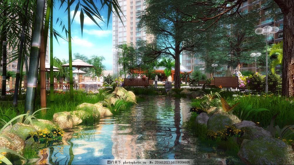 景观园林效果设计图片