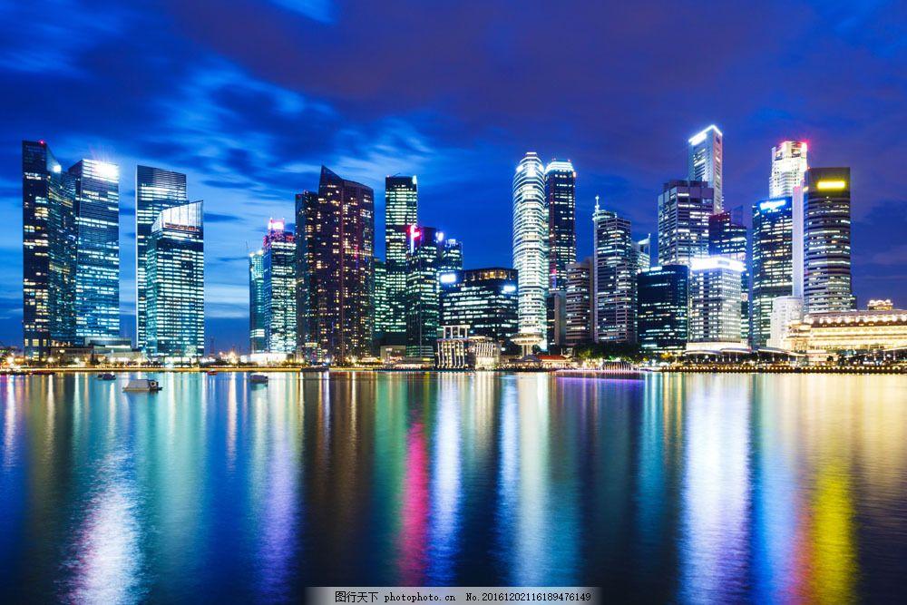 海边城市建筑图片素材 海边 灯光 夜景 建筑 城市 城市风光 城市风光