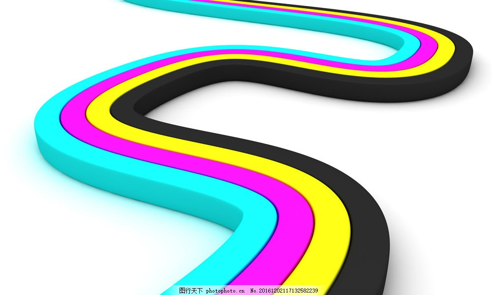 CMYK弯曲曲线