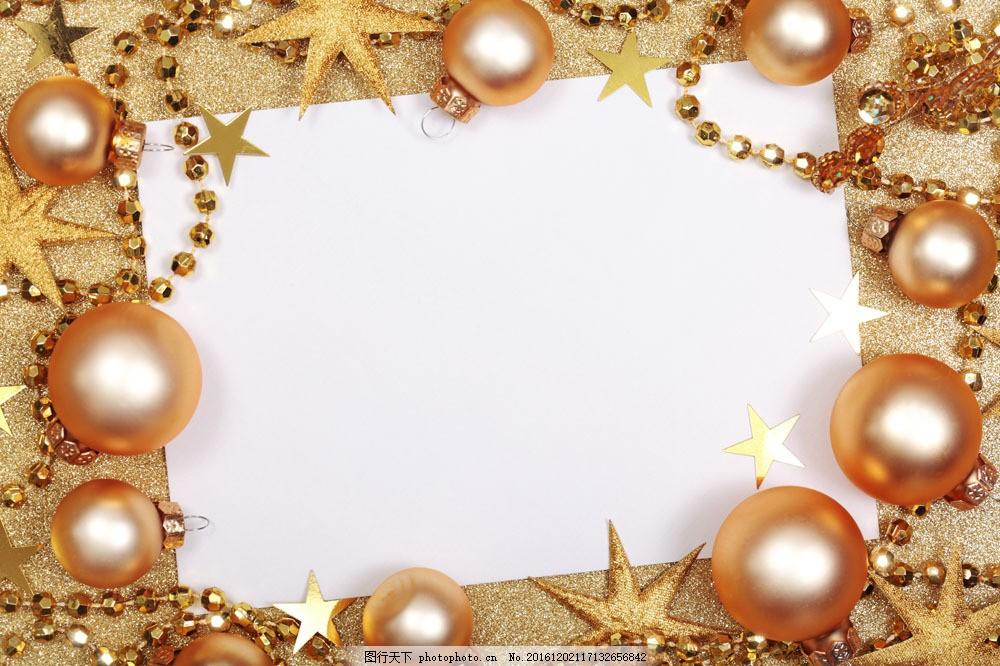 卡片与圣诞球 卡片与圣诞球图片素材 珠帘 珍珠 圣诞节 节日庆典