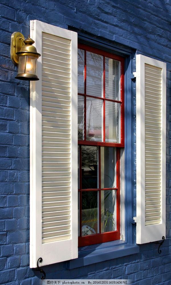 打开的别墅窗户 打开的别墅窗户图片素材 别墅庭院 欧式别墅 别墅设计