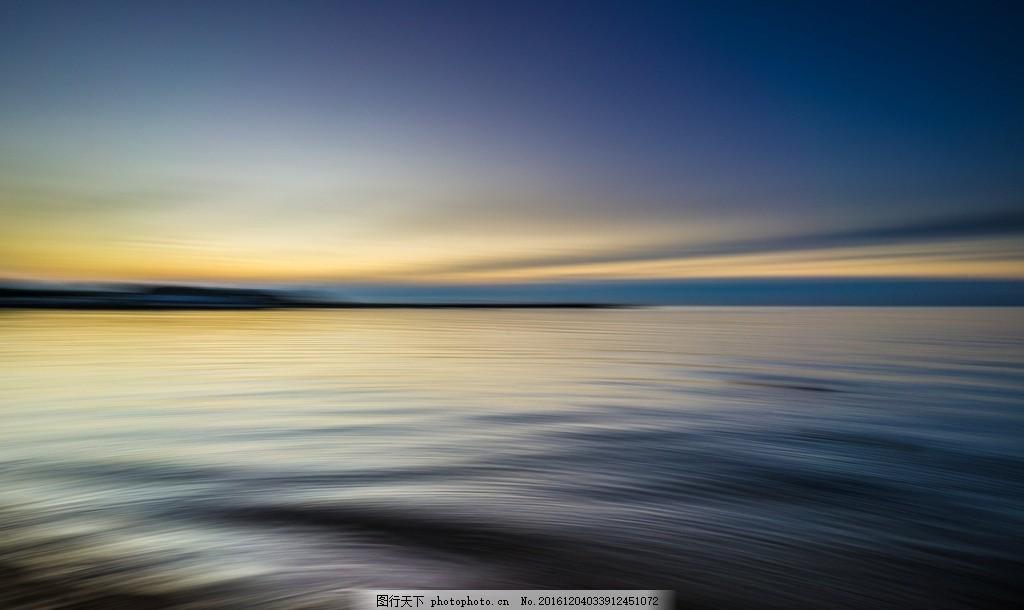 大海 风景 壮观 平静 海面 天空 水天一色 傍晚 彩霞 平静的大海 摄影