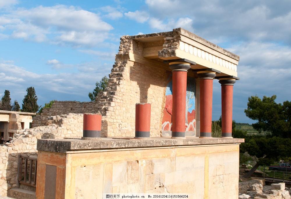 欧式残破罗马建筑图片