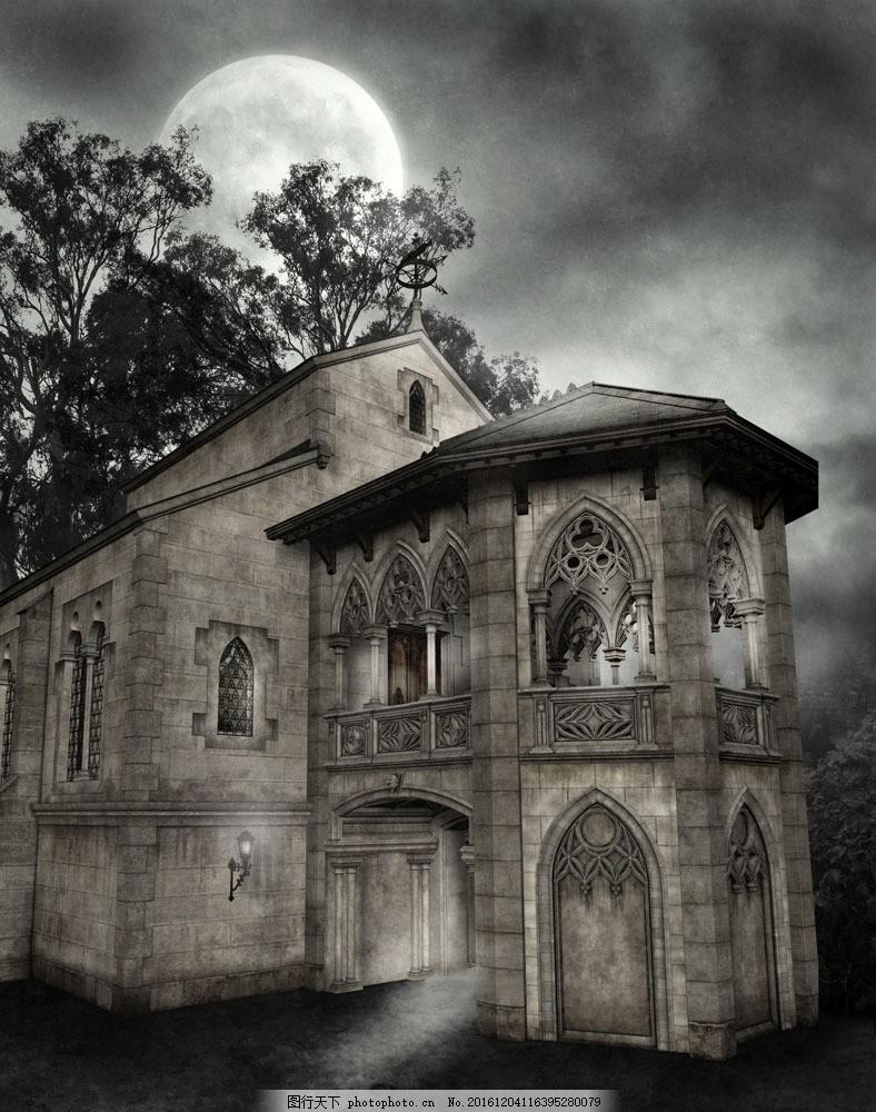 哥特式建筑房屋图片