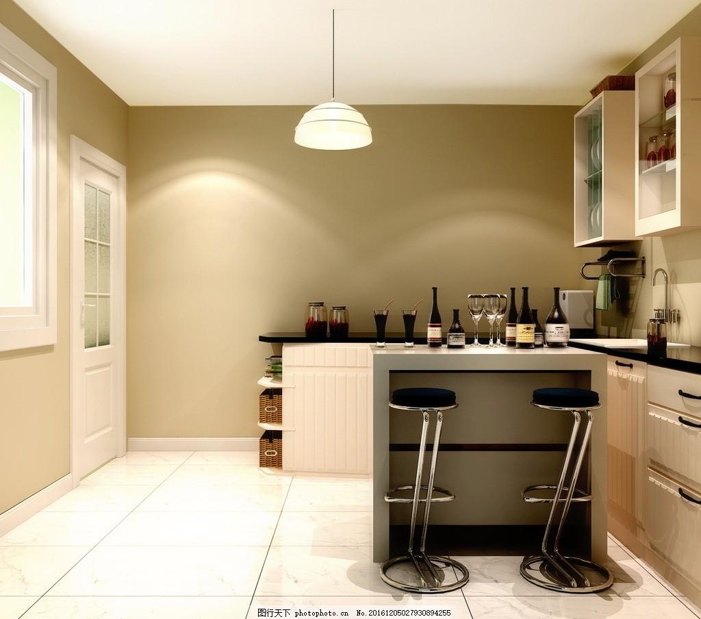 厨房西厨效果图 吧台 装饰 装修 家装 室内设计效果图未分类