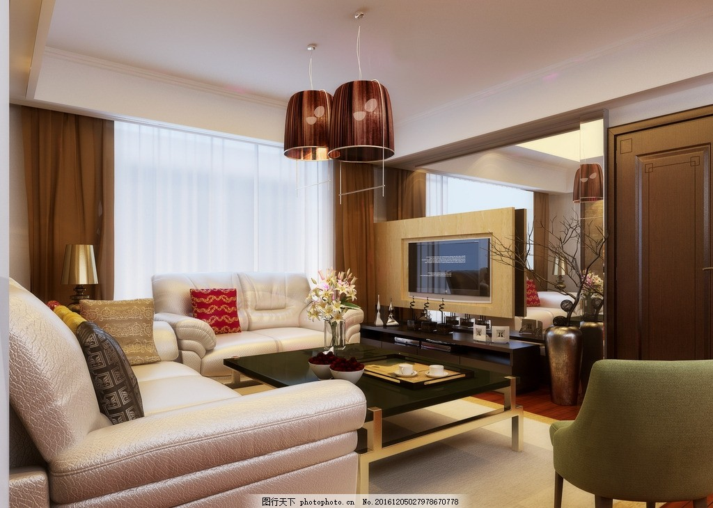 客厅效果图 室内设计 装饰 装修 家装             设计 环境设计