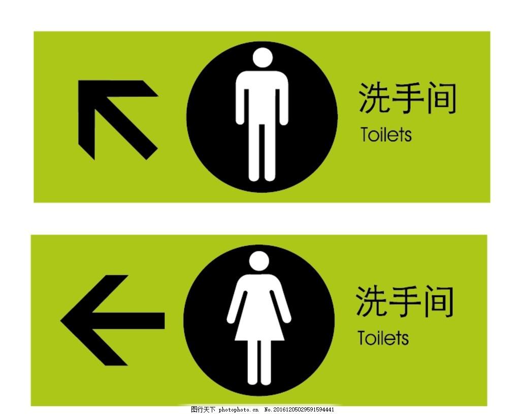 洗手间标牌