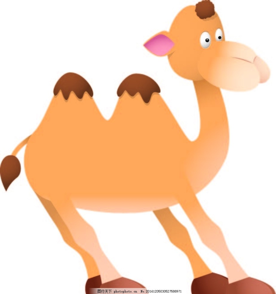 骆驼 幼儿园素材 背景墙 卡通动物 矢量素材 卡通画 漫画