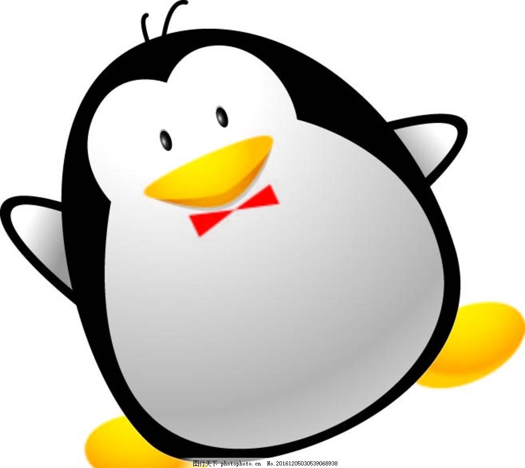 企鹅 幼儿园素材 背景墙 卡通动物 矢量素材 卡通画 漫画