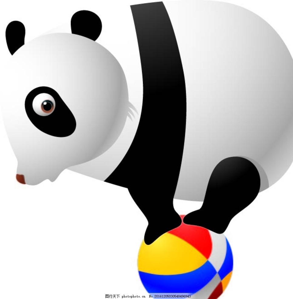 熊猫 幼儿园素材 背景墙 卡通动物 矢量素材 动物 卡通画 漫画 设计