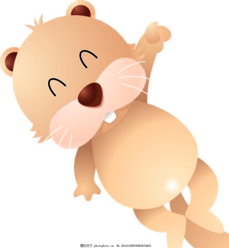 小松鼠 幼儿园素材 背景墙 卡通动物 矢量素材 卡通画 漫画