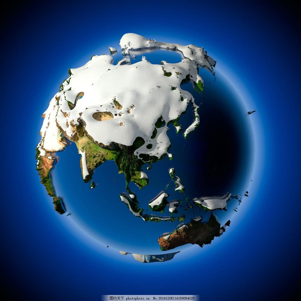 立体地球素材 立体地球素材图片素材 星球 地图 创意地球 环保广告