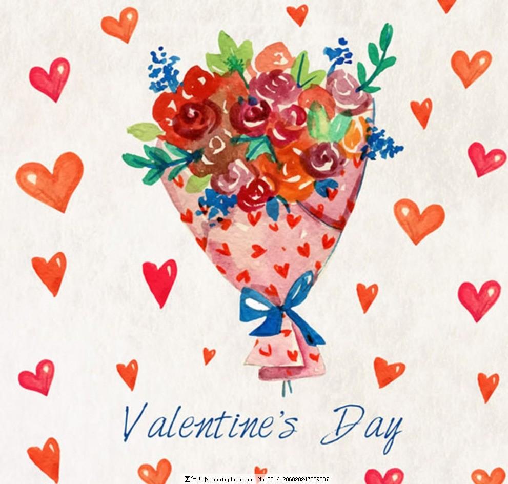 手绘爱心 爱心 卡通爱心 手绘 图标 情人节 心形 矢量素材 玫瑰花