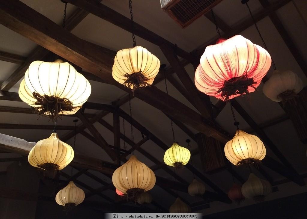 创意灯 蒜头灯 花灯 灯笼 摄影 生活素材