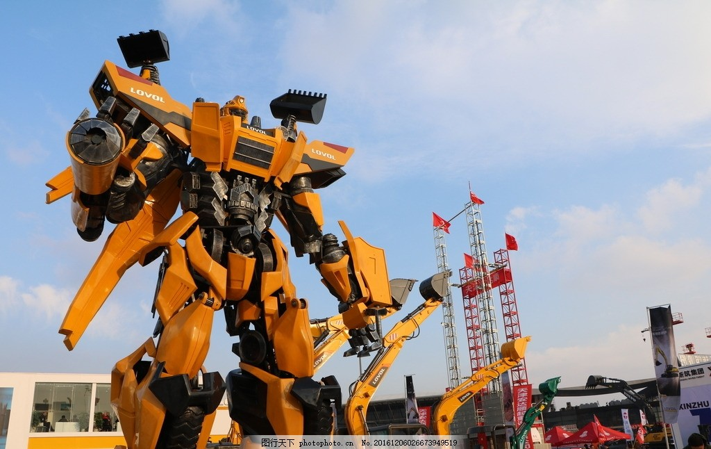 机器人 大黄蜂 工程机械展 变形金刚 机器人展会 展会摄影 摄影 现代