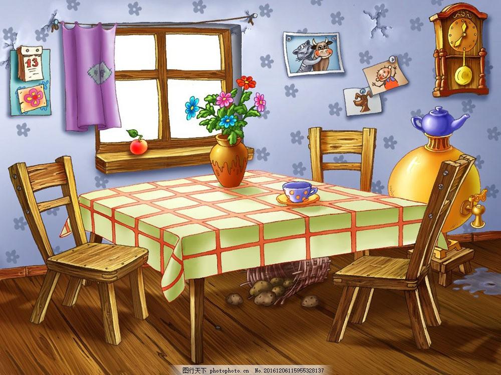 卡通餐厅室内图片