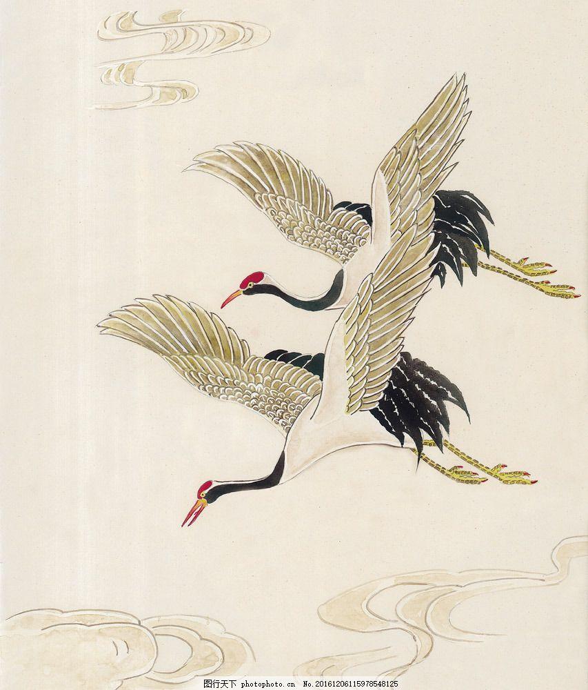 国画仙鹤图片