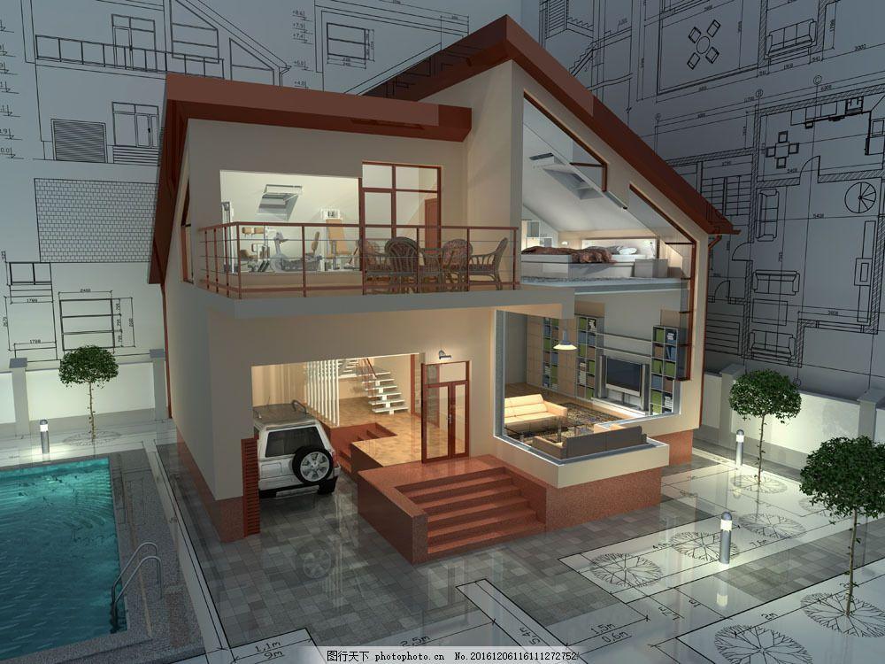 建筑结构透视图图片