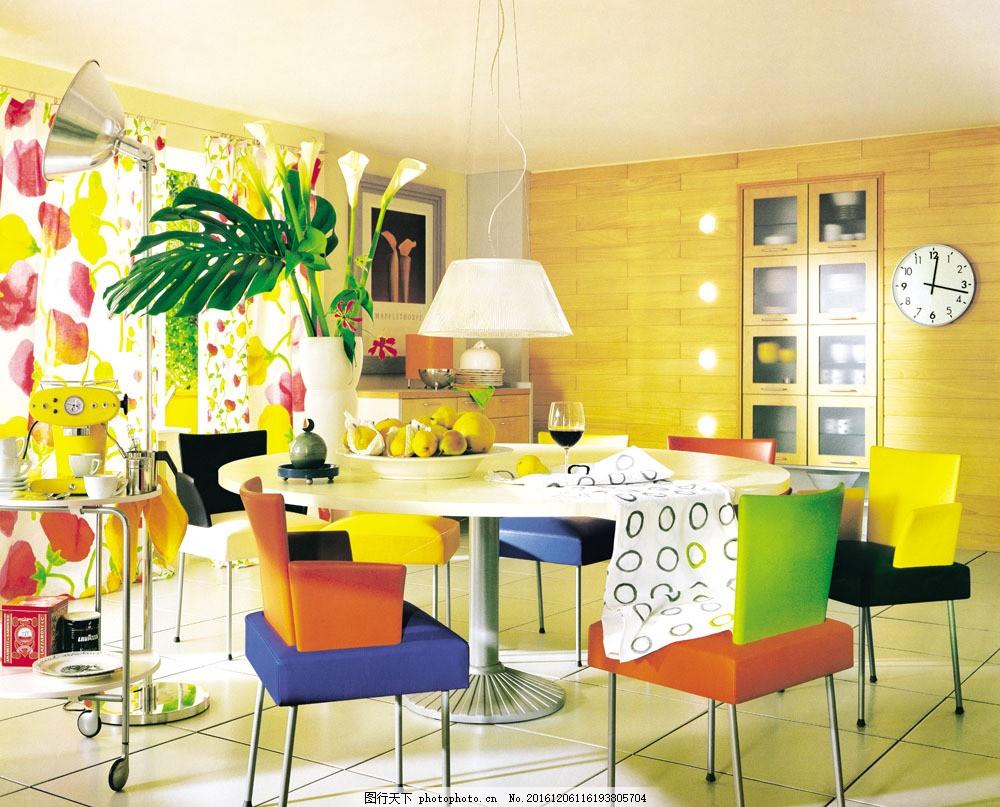 餐厅室内设计图片素材 室内装饰效果图 室内装潢 时尚家居