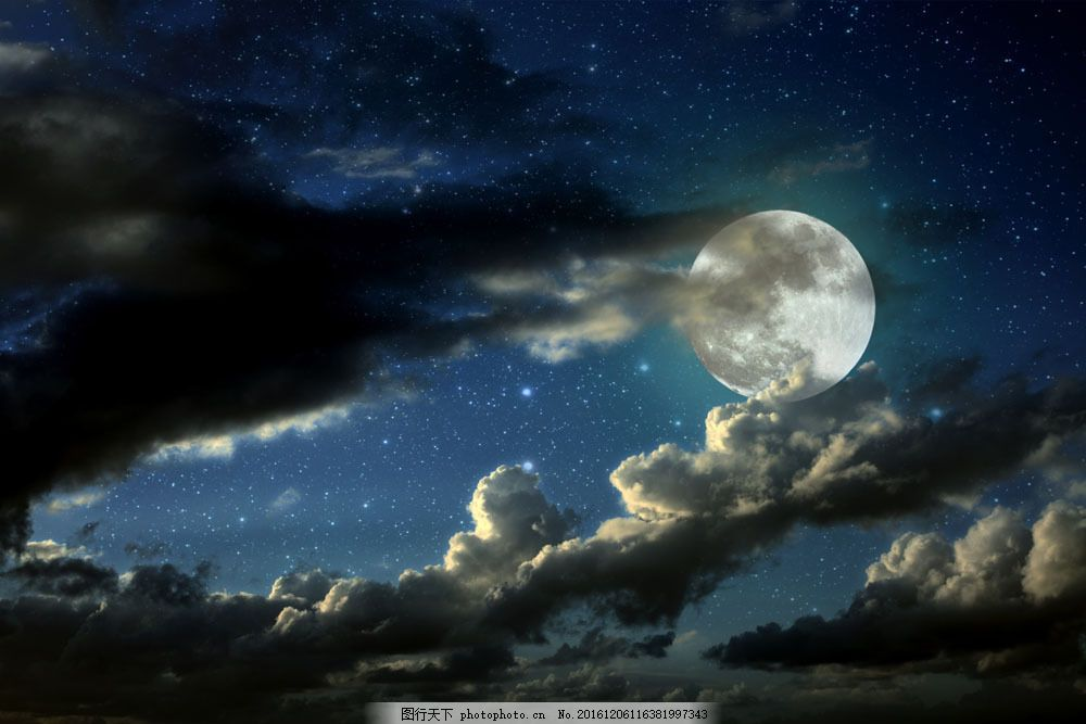 幼儿绘画星空月夜