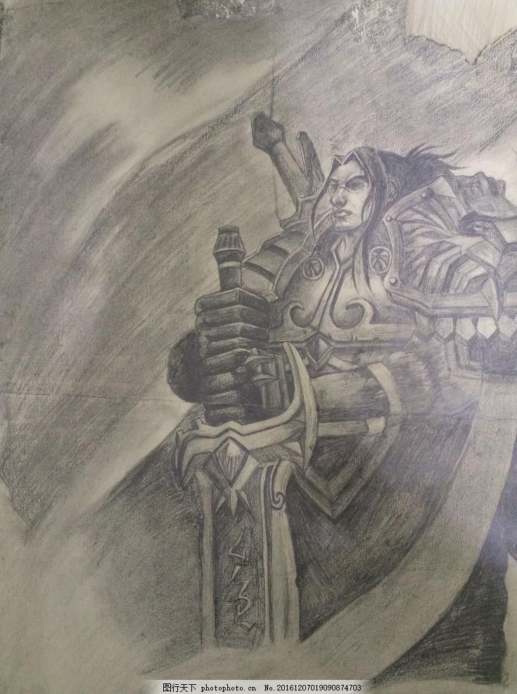 魔兽世界手绘 乌瑞恩,暴风城 联盟 暴风城国王 王子