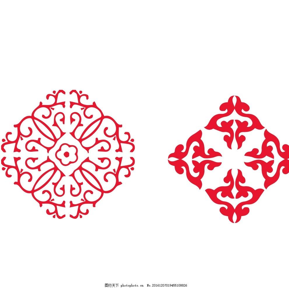 新年花纹花边 矢量图 边框素材 红色 花纹花边 剪纸 纹理 祥云 设计