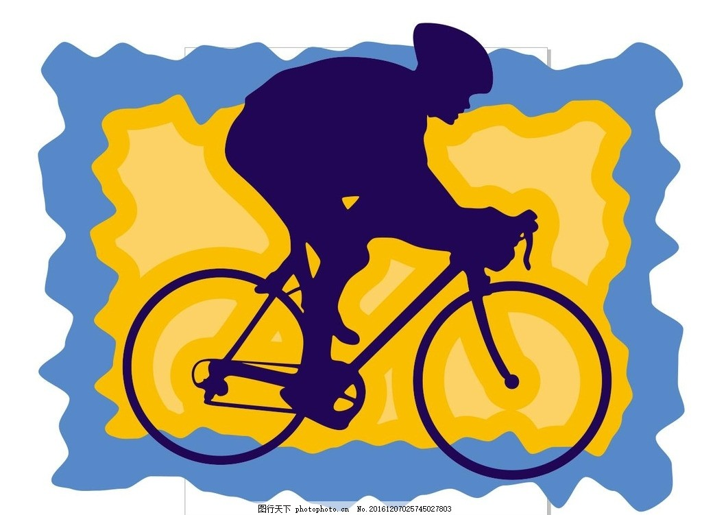 自行车 单车比赛 插画 装饰画 简笔画 线条 线描 简画 黑白画 卡通