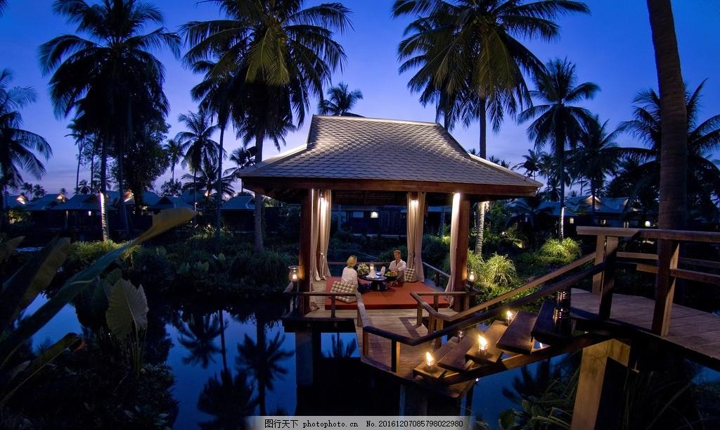 普吉岛麦考安纳塔拉别墅度假村 安纳塔拉花园 烛光晚餐 私人晚餐