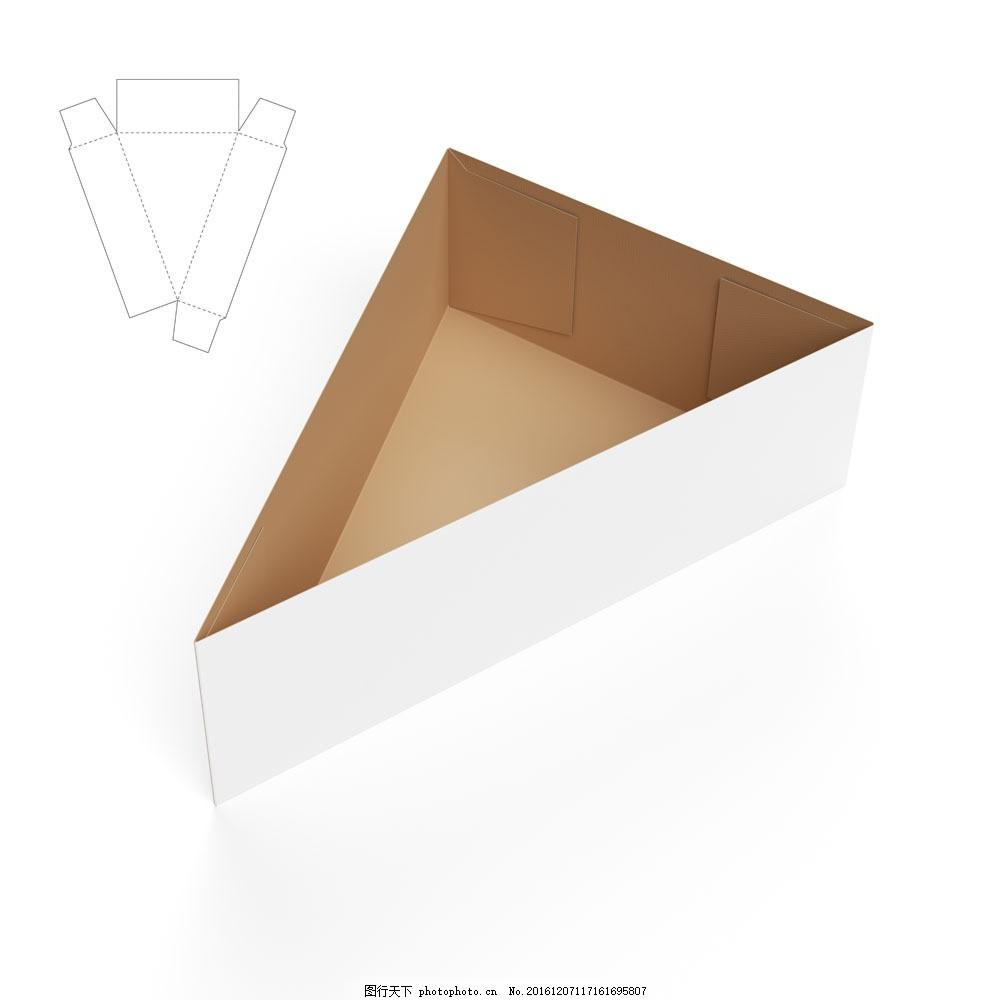 三角形纸盒和钢刀线图片素材 纸盒设计 包装盒设计 包装盒展开图 包装