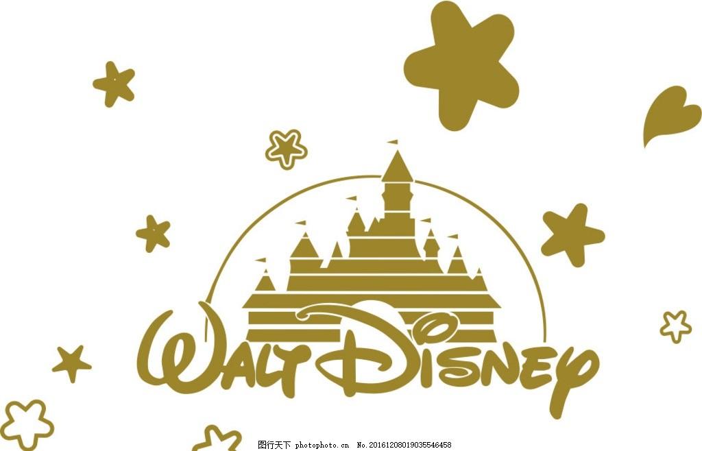 迪士尼矢量图 刻绘图 线条图 广告设计素材 墙贴用图 硅藻泥矢量图