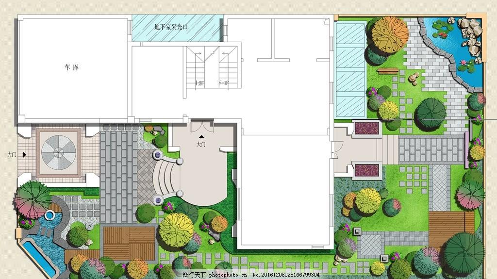 日式别墅庭院景观设计
