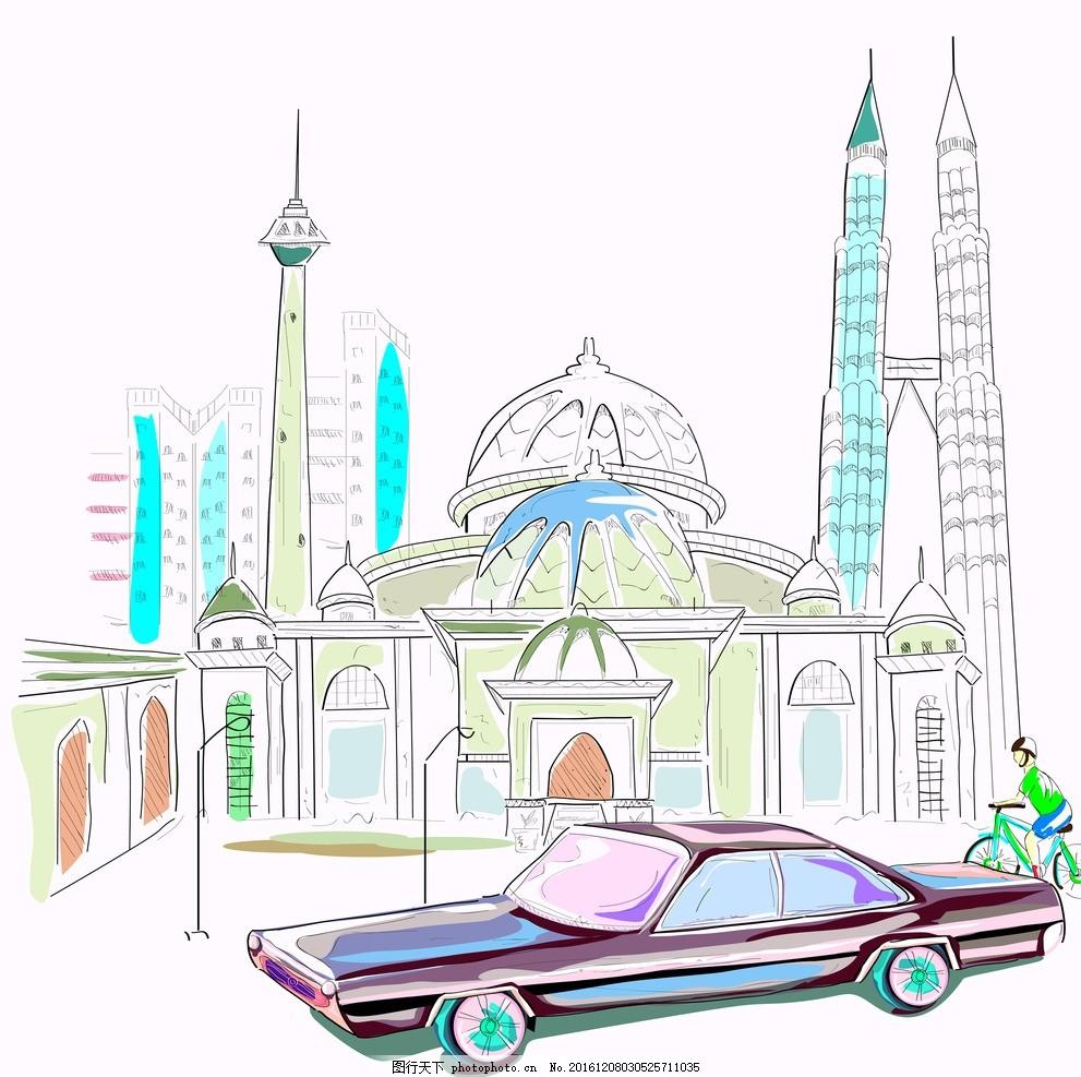矢量城市风景 矢量 城市 风景 卡通 建筑 卡通设计 设计 广告设计