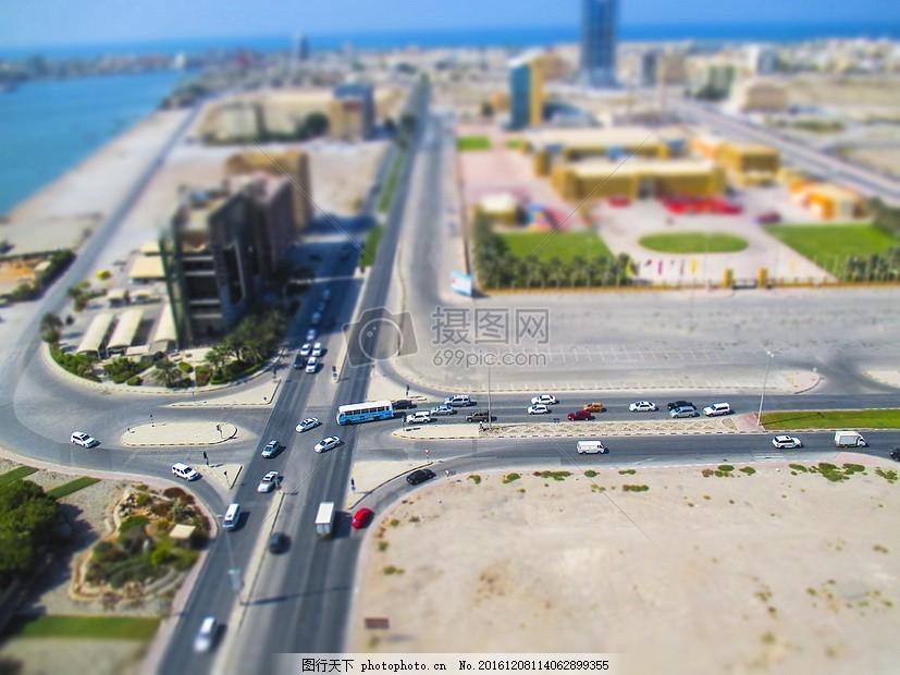 俯视的鸟瞰建筑图