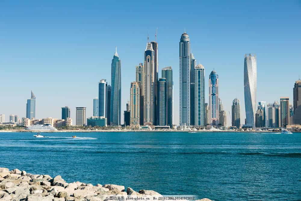 迪拜高楼风景图片