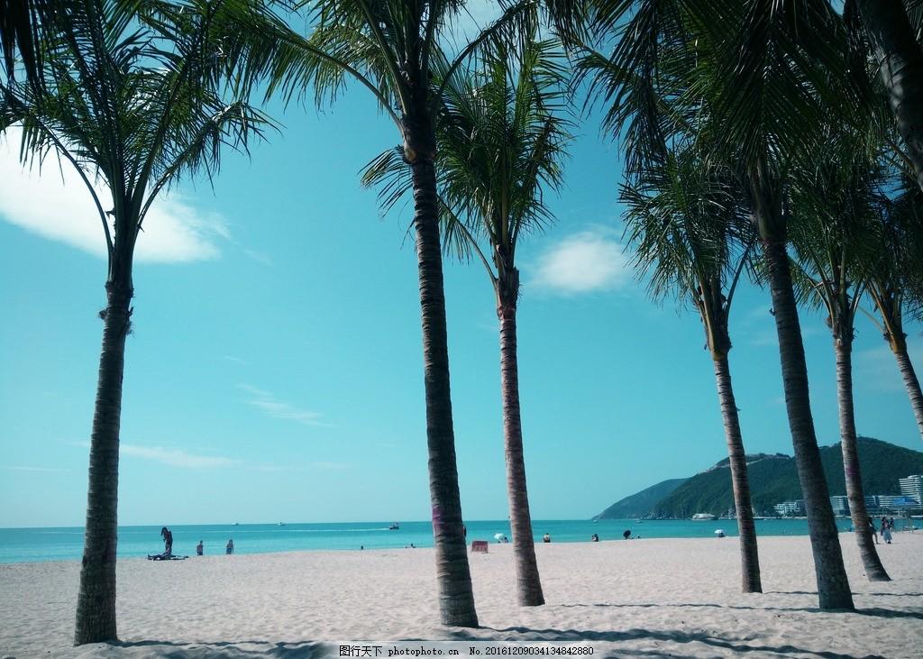 三亚 大海 椰子树 风景 落日 海边 海景 摄影 旅游摄影 人文景观