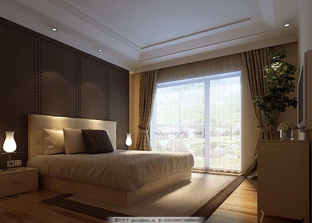 别墅主卧效果图 装饰 装修 家装 欧式风格