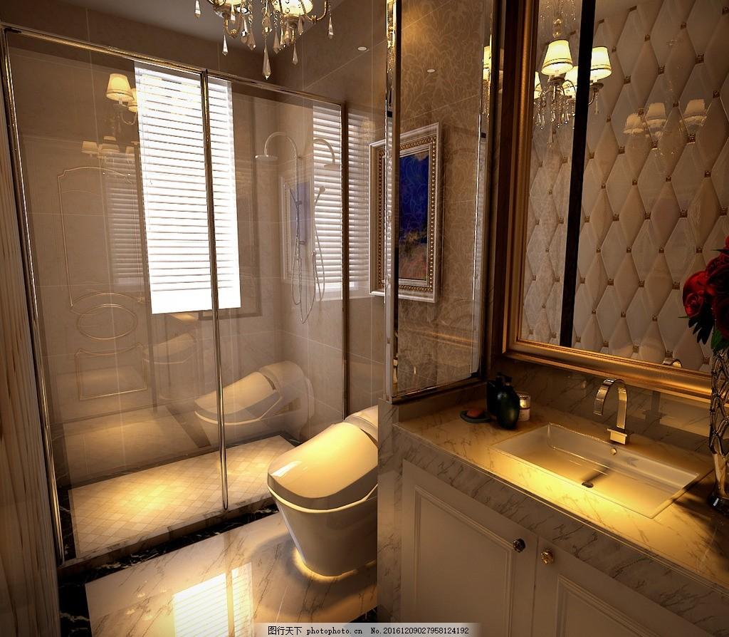 别墅浴室卫生间效果图 装饰 装修 家装