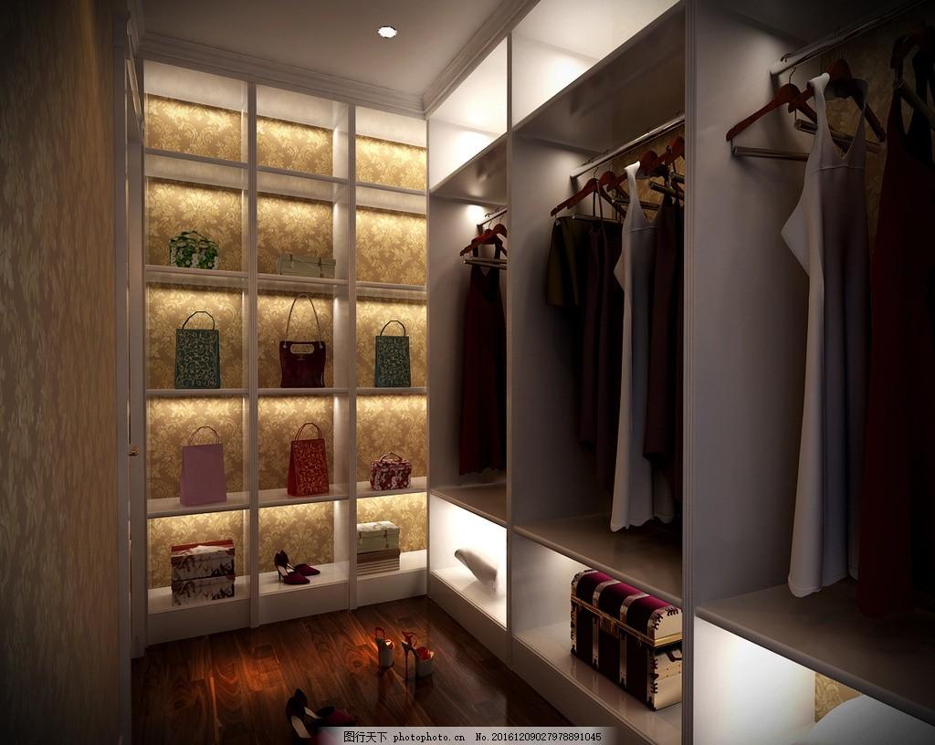 室内设计 别墅 装饰 装修 家装 衣帽间 衣帽柜        设计 环境设计
