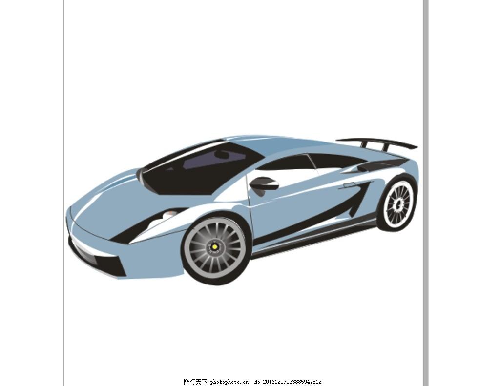 手绘跑车 cdr素材 矢量文件 汽车矢量 插画素材 海报素材 图片素材